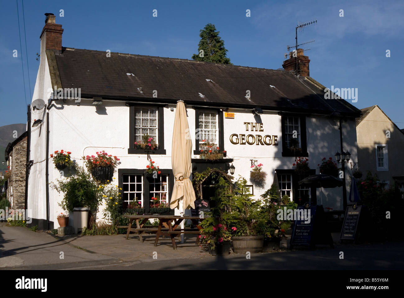 The George Public house in Castleton in the Peak District National Park Derbyshire UK England GB Great Britain - Stock Image