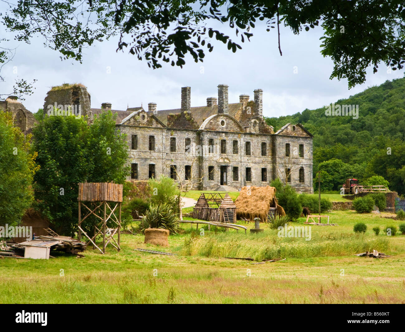 Abbey de Bon Repos, Cotes d'Armor, Brittany, France, Europe - Stock Image