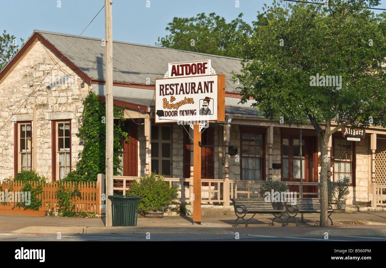 Texas Hill Country Fredericksburg Main Street Altdorf Restaurant