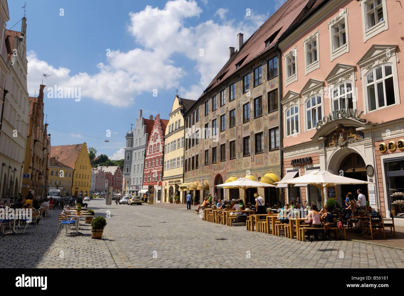 Altstadt, Landshut, Bavaria, Germany - Stock Image