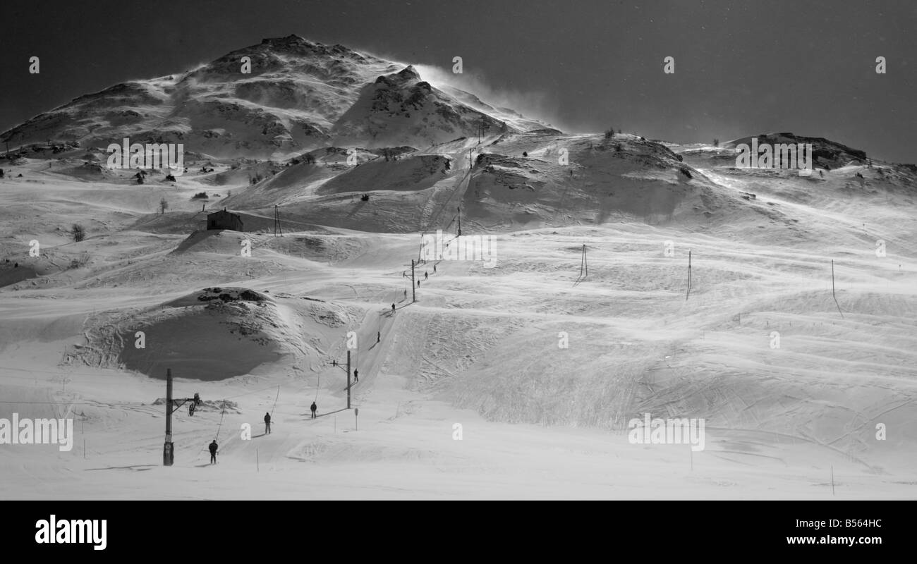 Pistes, Val Cenis, France - Stock Image