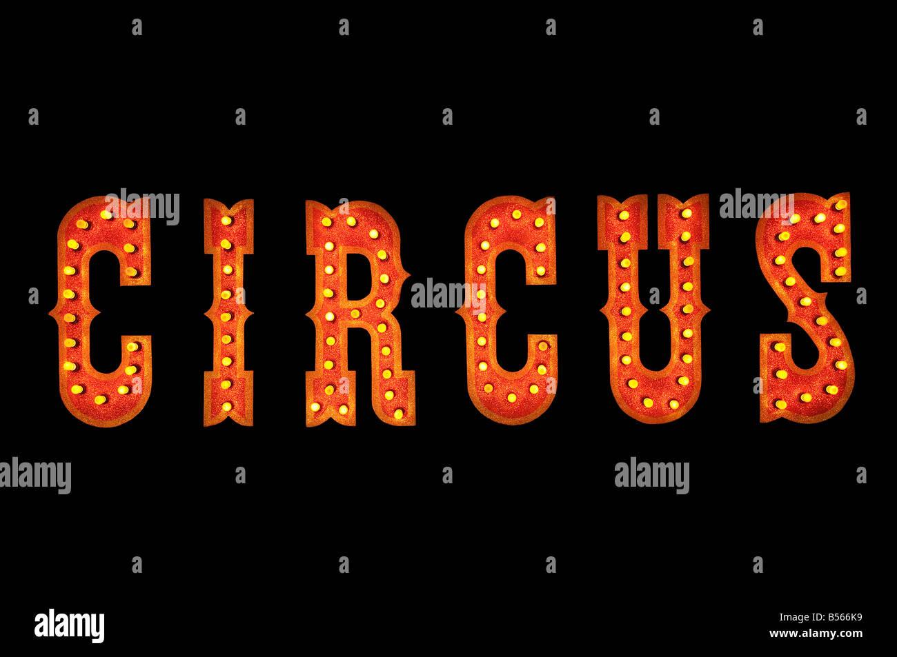 Circus sign - Stock Image