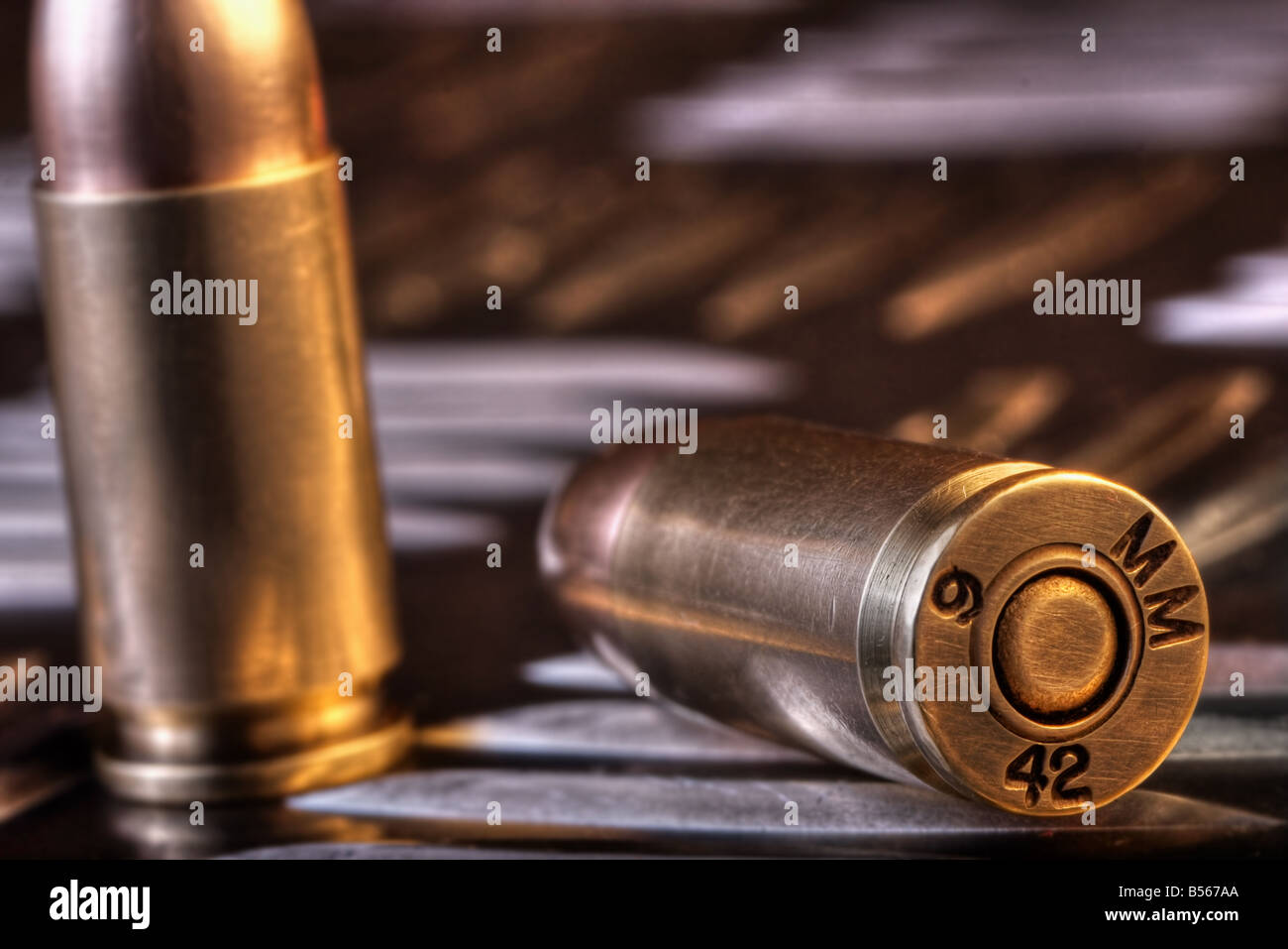 9mm bullets - Stock Image
