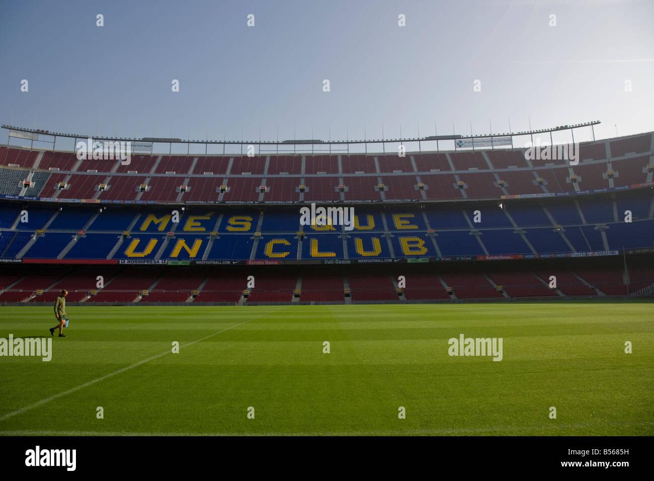 CAMP NOU FC BARCELONA FOOTBALL STADIUM BARCELONAFC FCBARCELONA SPAIN - Stock Image