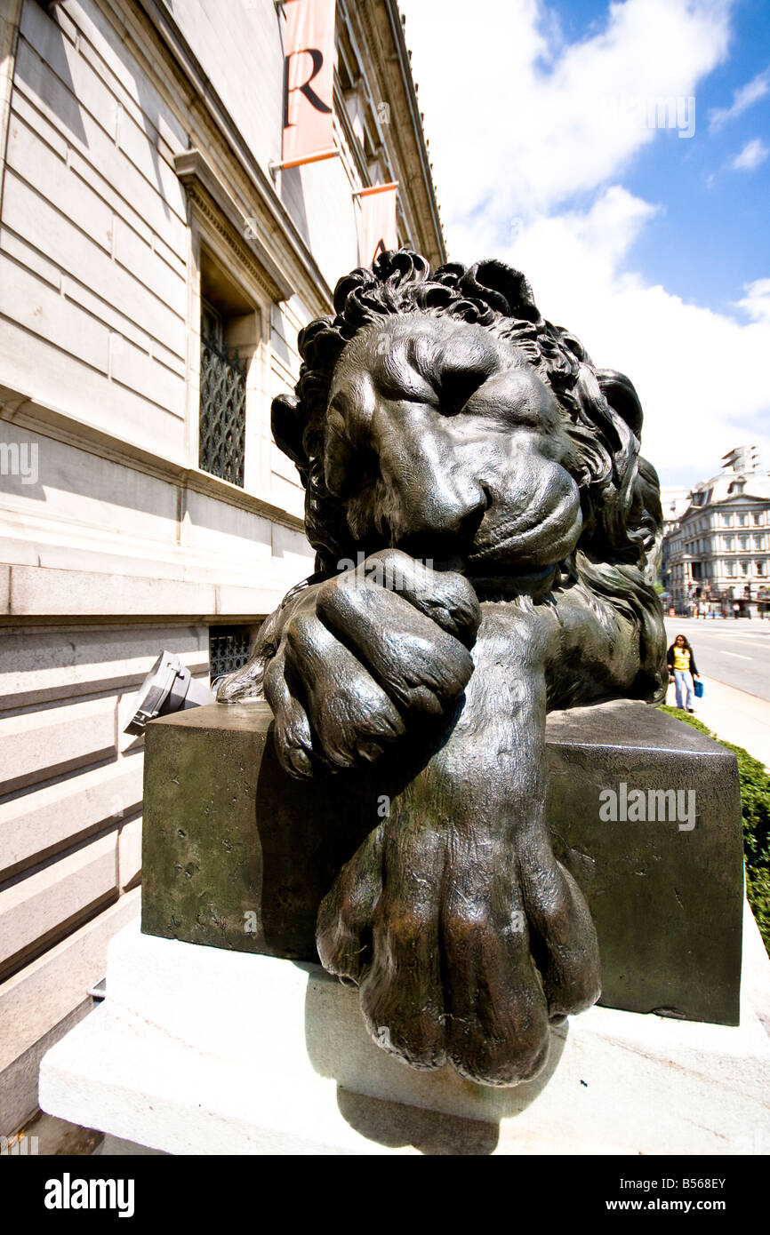 lion statue - Stock Image