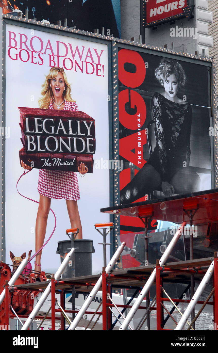 Legally Blonde, Chicago sign - Stock Image