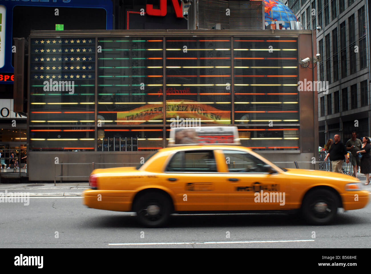 New York Yellow Taxicab Times Square NY - Stock Image