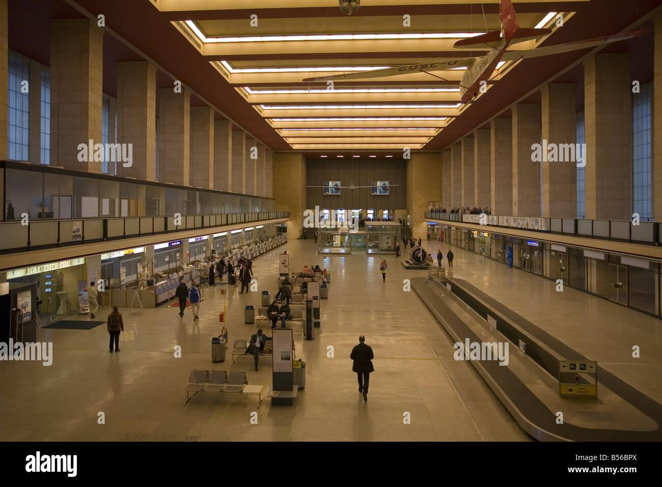 Tempelhof Airport, Berlin, Germany - Stock Image