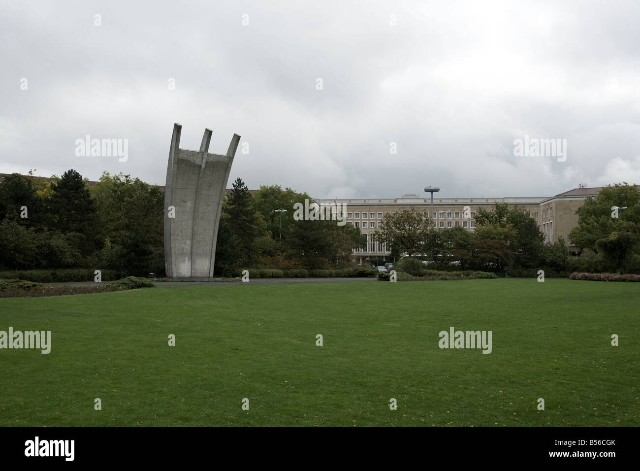 The Berlin Airlift Memorial at Tempelhof Flughafen, Berlin, Germany - Stock Image