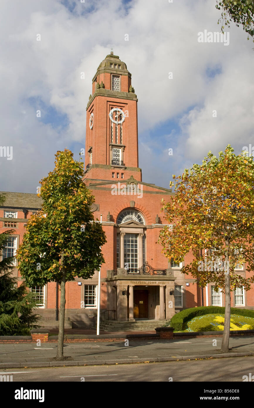 Town Hall, Trafford, Manchester, UK. - Stock Image