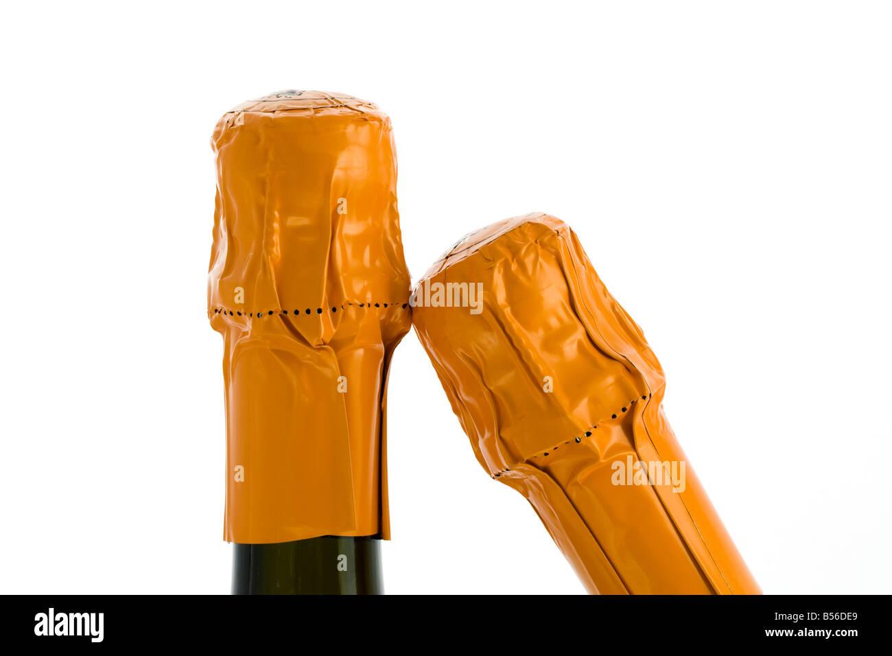 Champagne bottlenecks - Stock Image