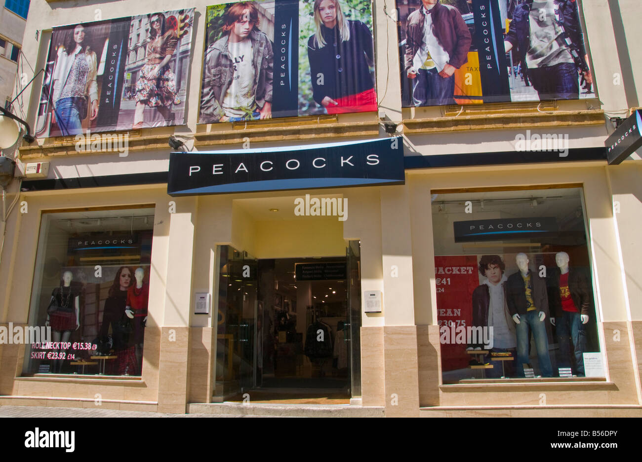 Peacocks clothing store in the city of Southern Nicosia Cyprus EU - Stock Image
