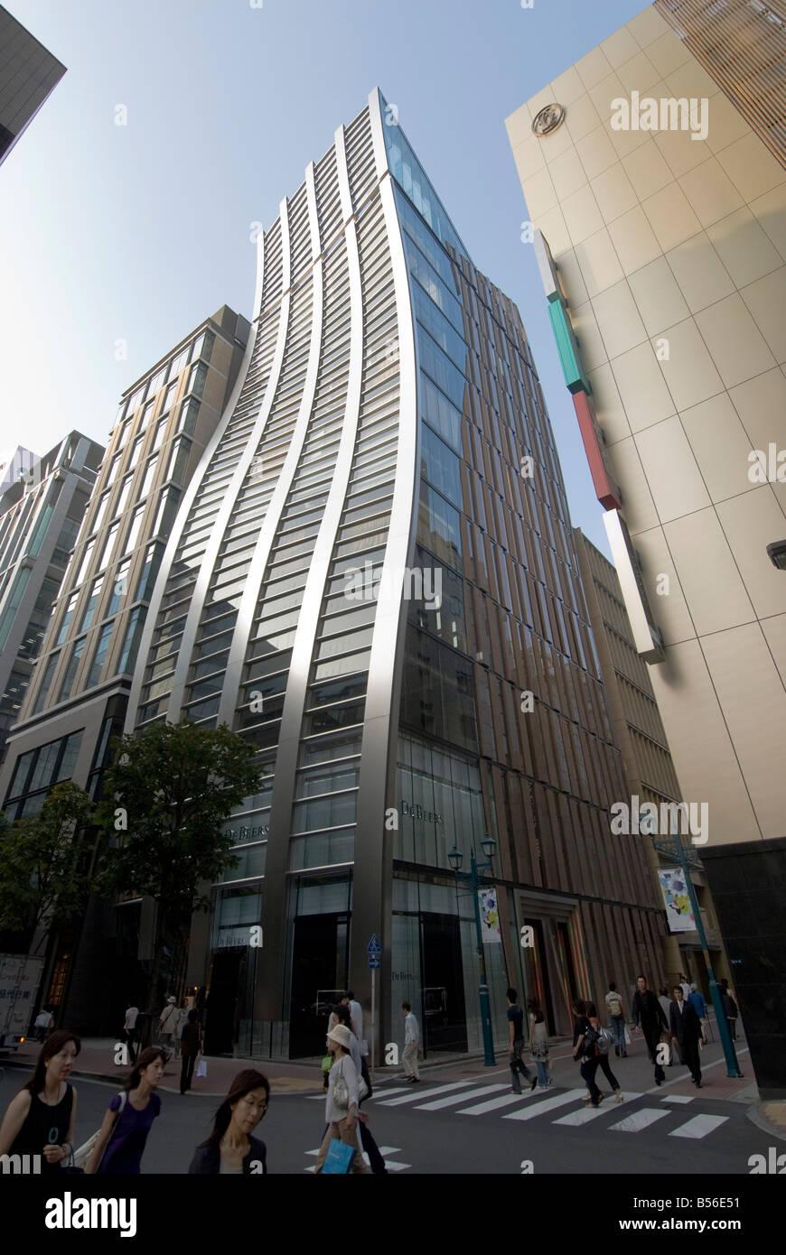 De Beer building in Ginza, Tokyo - Stock Image