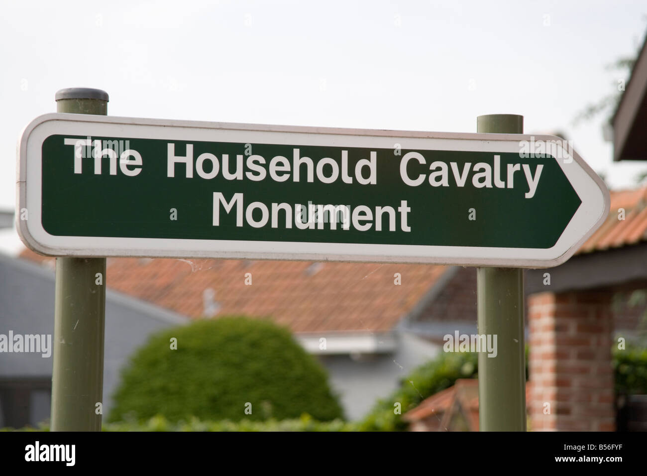 The Household Cavalry Monument at Zandvoorde near Ypres,memorial to the battles of October 1914 in the First World - Stock Image