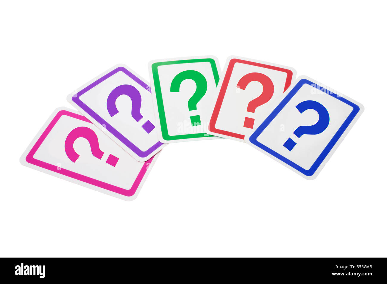 Question Mark Cards - Stock Image