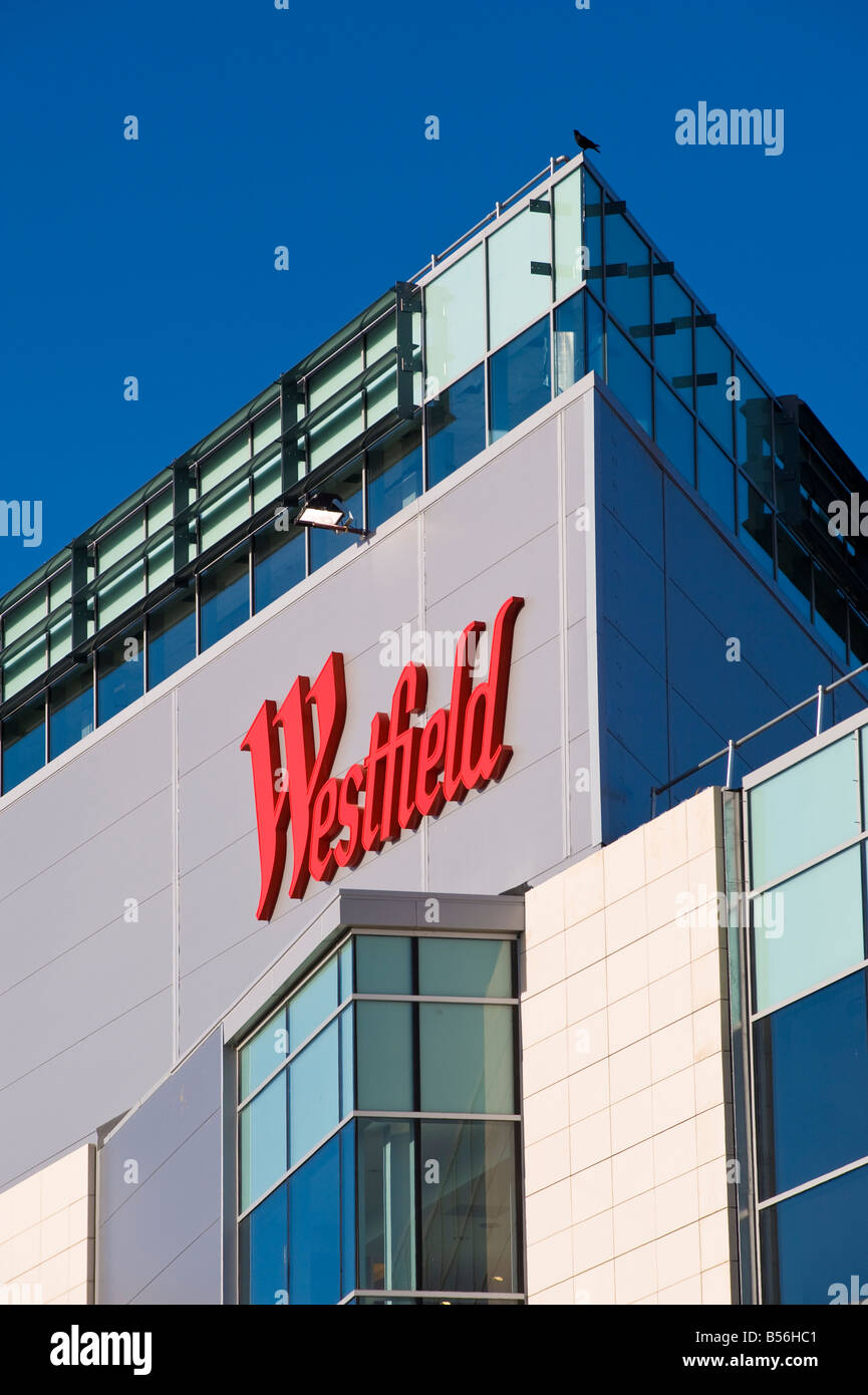 Newly built Westfield Shopping Centre in White City W12 London United Kingdom - Stock Image