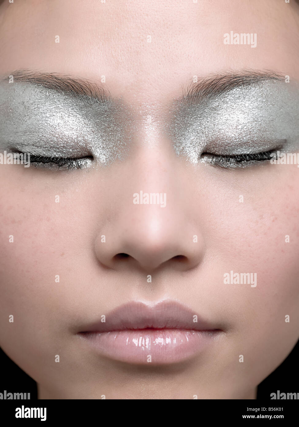 A young woman sleeping - Stock Image