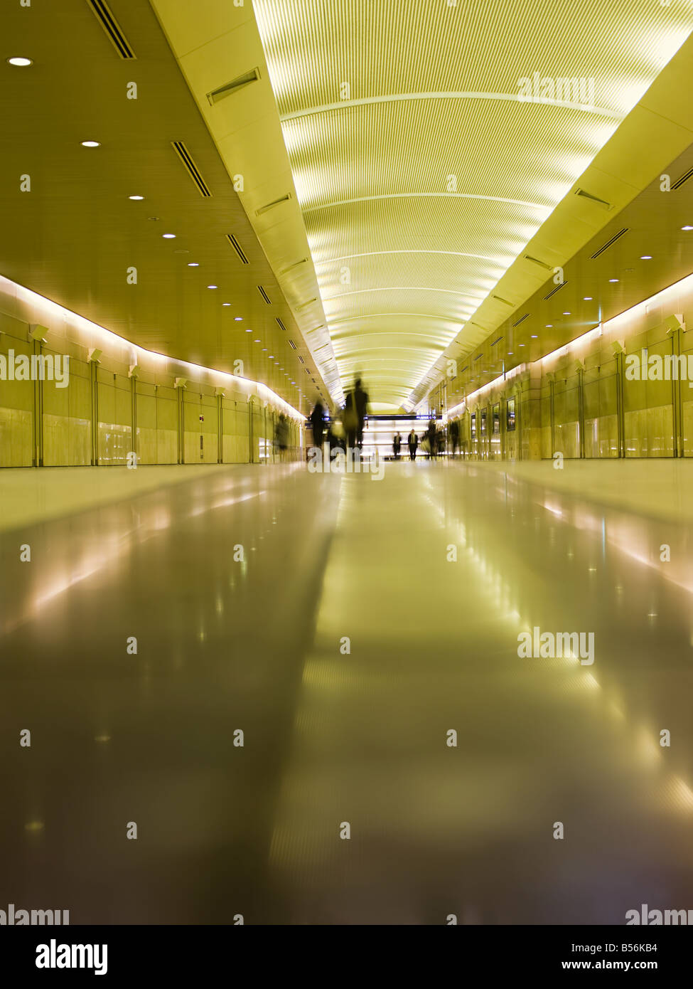 People in corridor - Stock Image