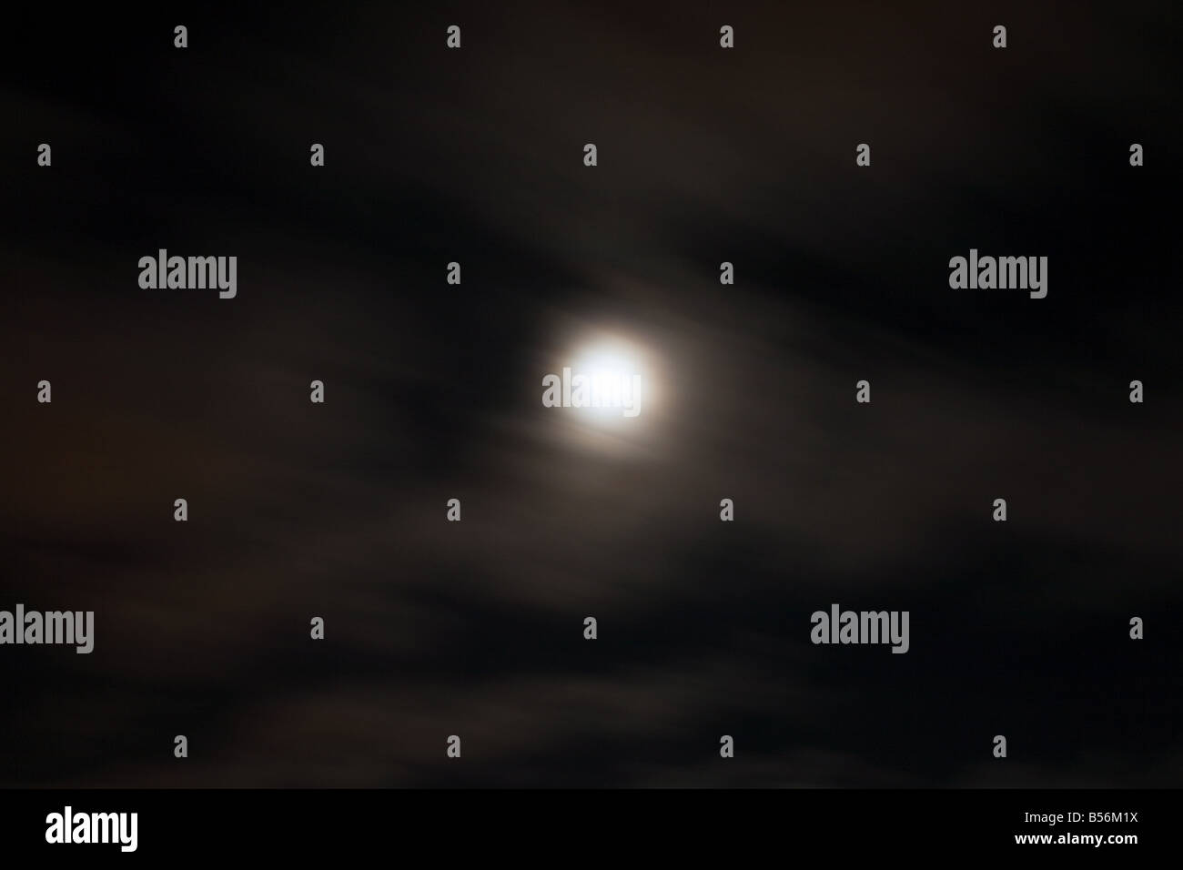 Moon in sky - Stock Image