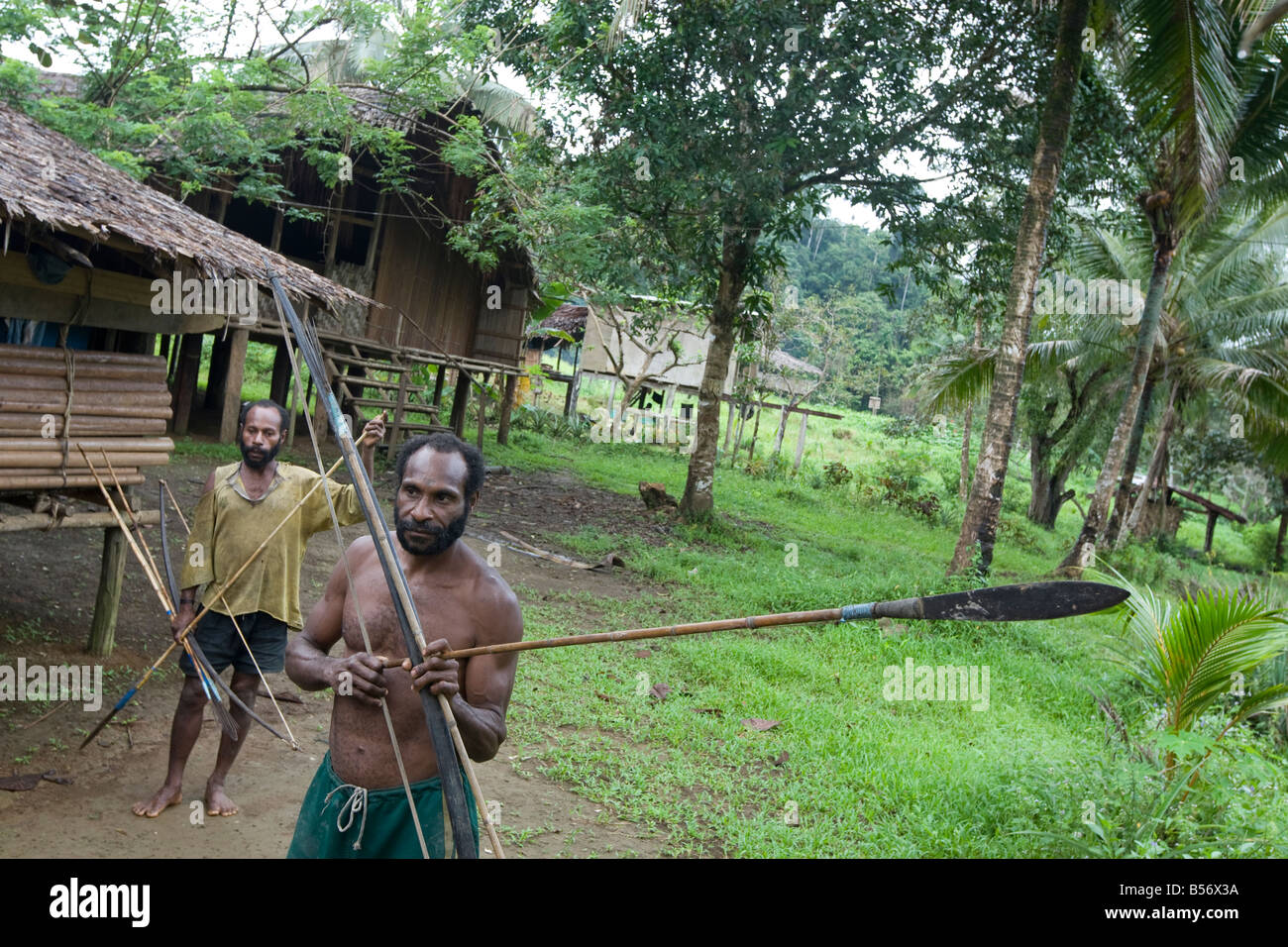 Gibidai village in the Turama extension logging concession, Gulf Province, Papua New Guinea, Friday 5th September - Stock Image