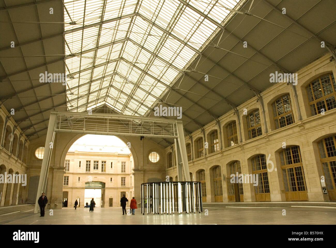 104 CentQuatre restored funeral parlour modern Arts Centre Paris France - Stock Image