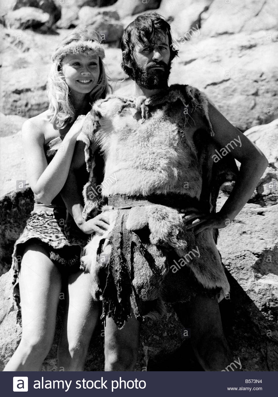 Ringo Starr In His New Film CavemenRingo With Shelly Long March 1980 P003739