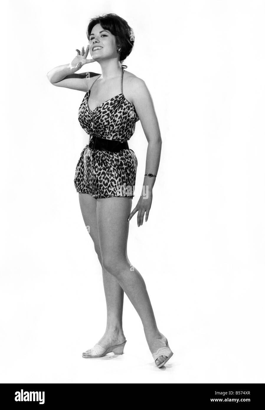 Reveille Fashions Wendy Richard Modelling Animal Print Swimming