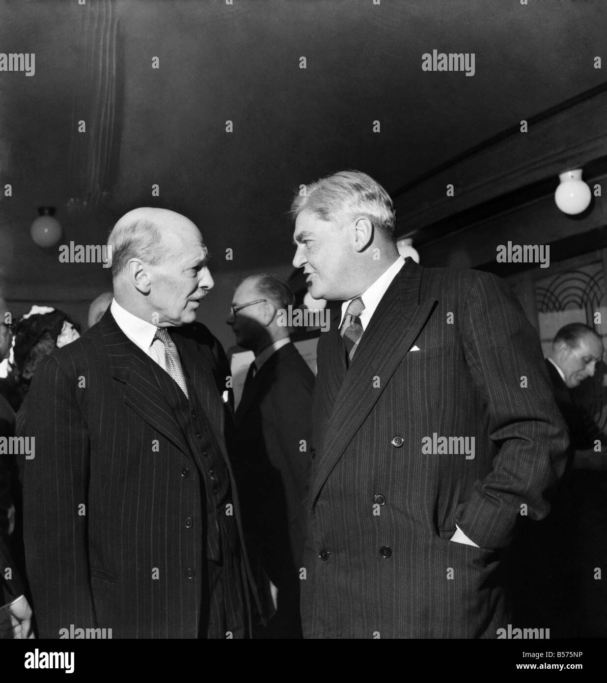 Labour Party Conference 1953: Nye Bevan and Clement Attlee former Prime Minister and Leader of the Labour Party - Stock Image