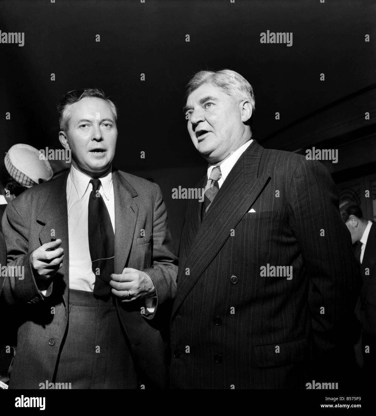 Labour Party Conference 1953: Nye Bevan and Harold Wilson. September 1953 D5828-007 - Stock Image