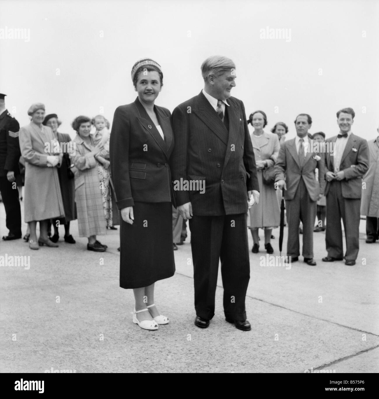 Labour Party Conference 1953: Nye Bevan and Jennie Lee. September 1953 D5828-009 - Stock Image