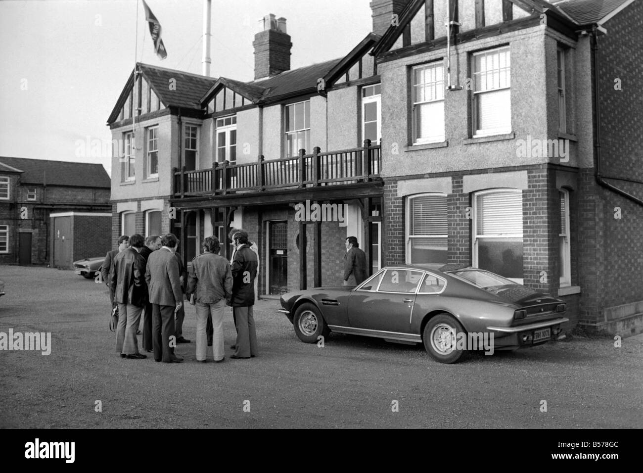 End Of An Era Aston Martin Close Newport Pagnell After The Stock Photo Alamy