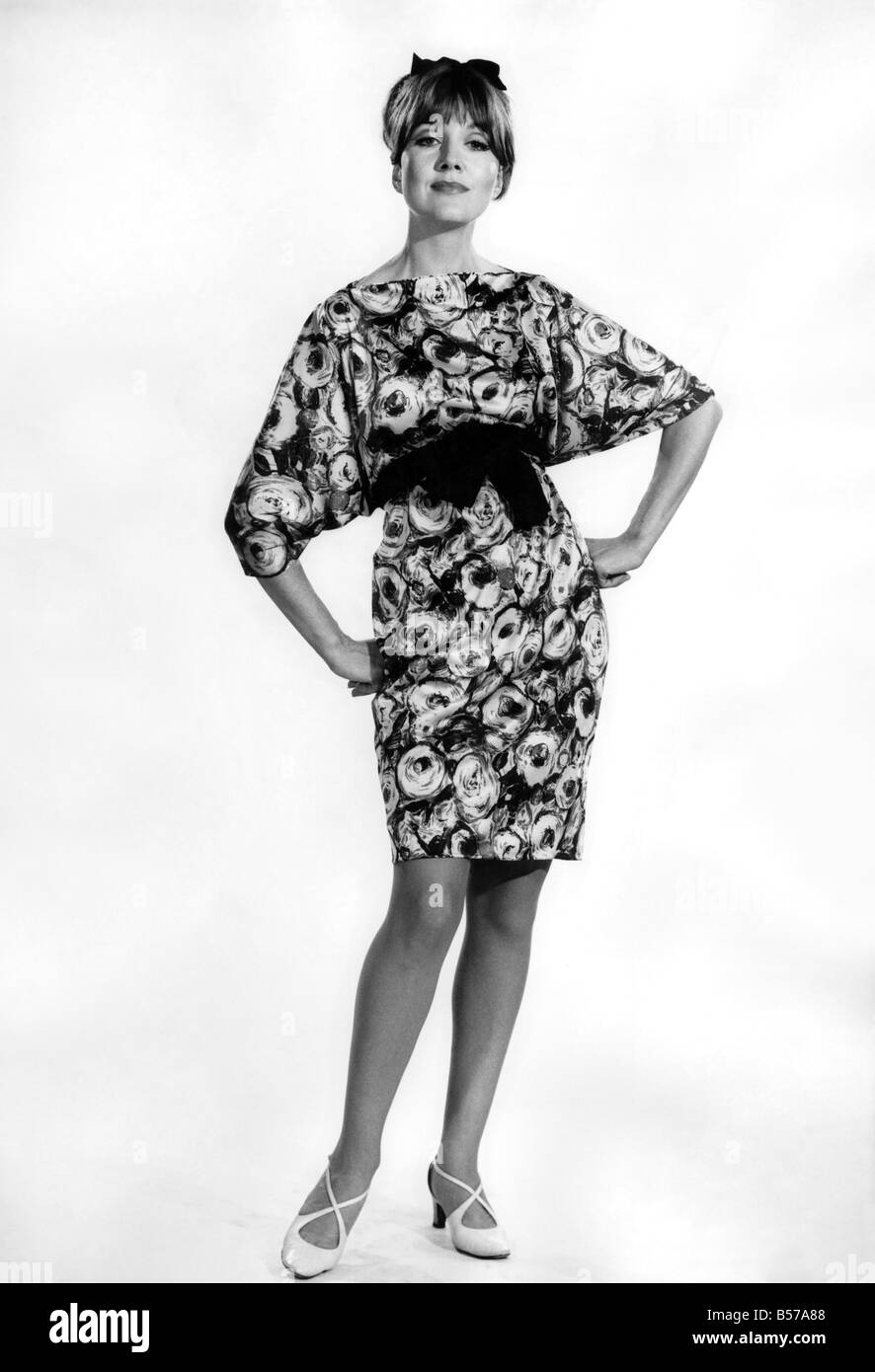 3dd760cf4a8 Reveille Fashions 1966: Anne Powell modelling summer dress. October ...