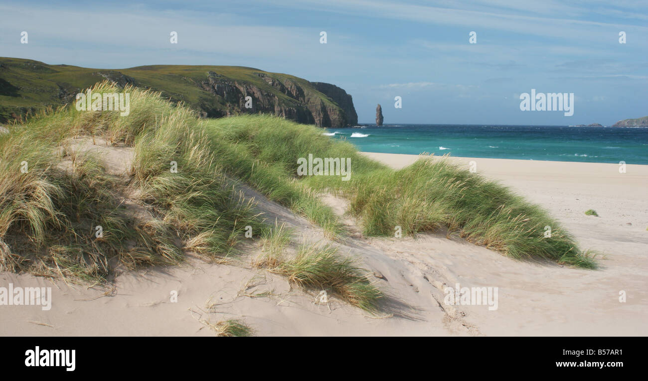 Sandwood Bay and Am Bhuachaille, Sutherland, Scotland - Stock Image
