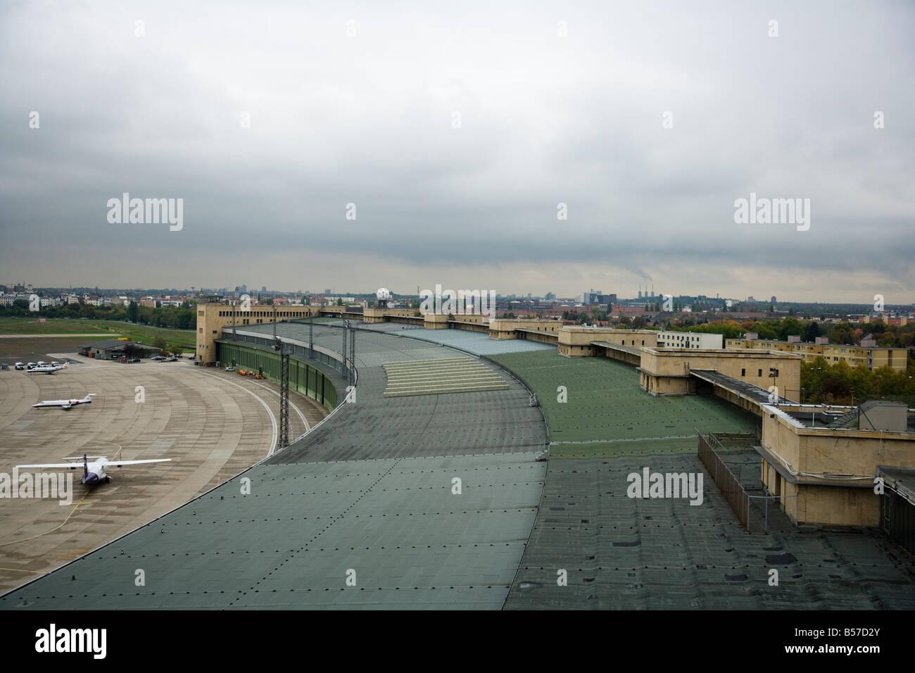 Rooftop view from Berlin's Tempelhof International Airport October 2008 - Stock Image