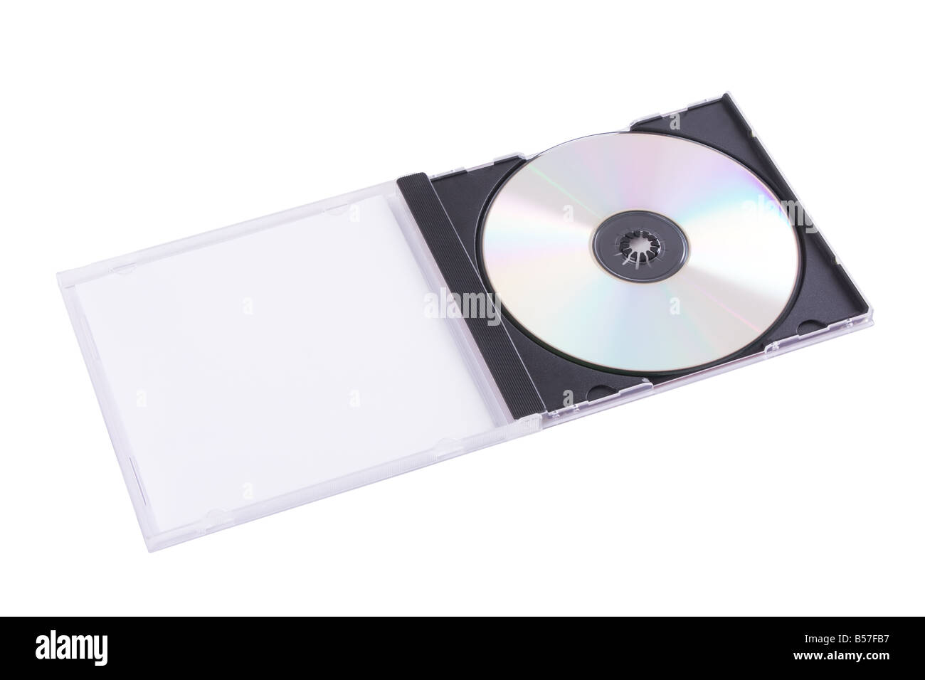DVD case isolated on a white background - Stock Image
