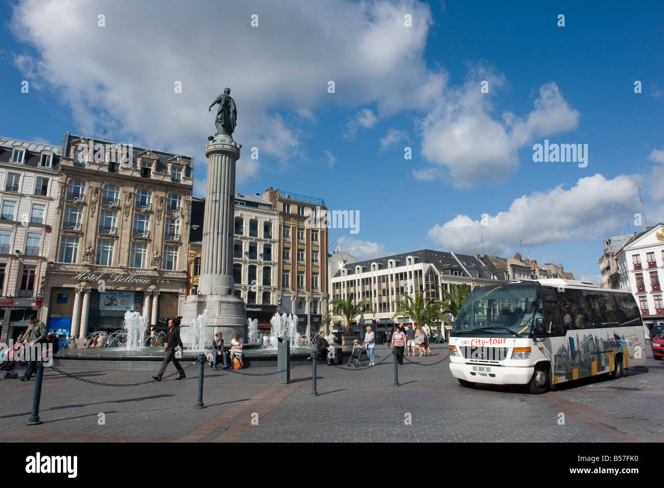 Main Place of Lille, france - Stock Image