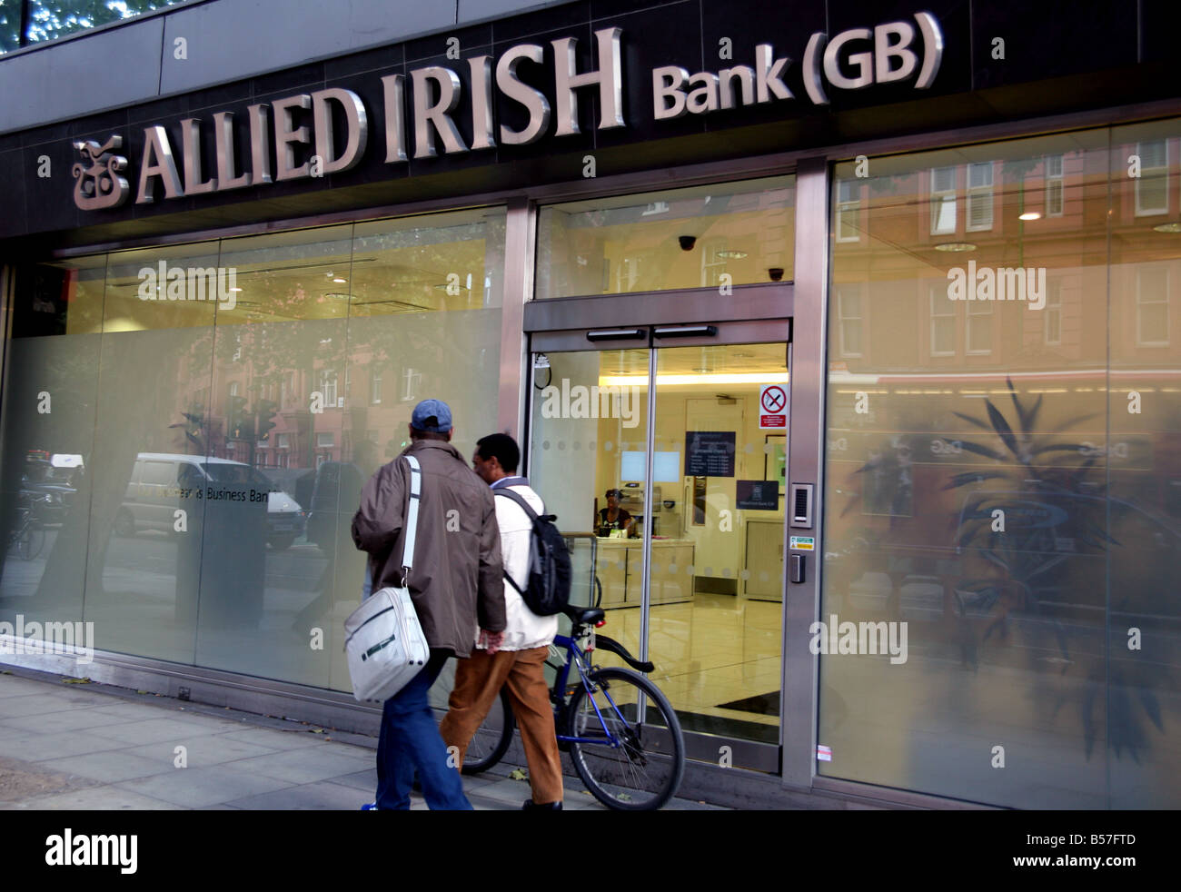 Branch of Allied Irish Bank in London - Stock Image