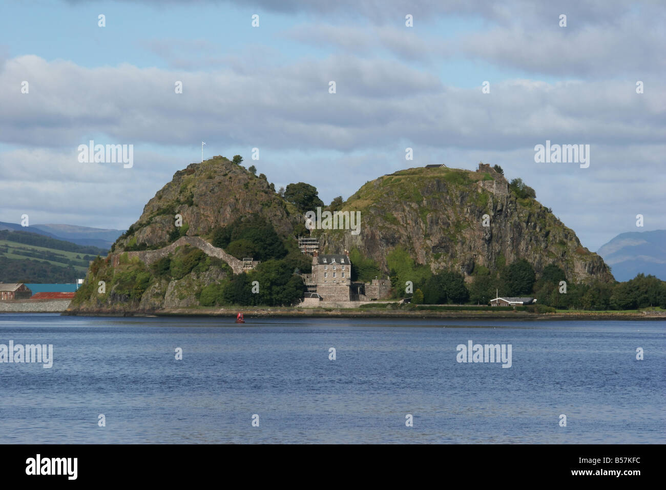 Dumbarton Rock and Castle - Stock Image