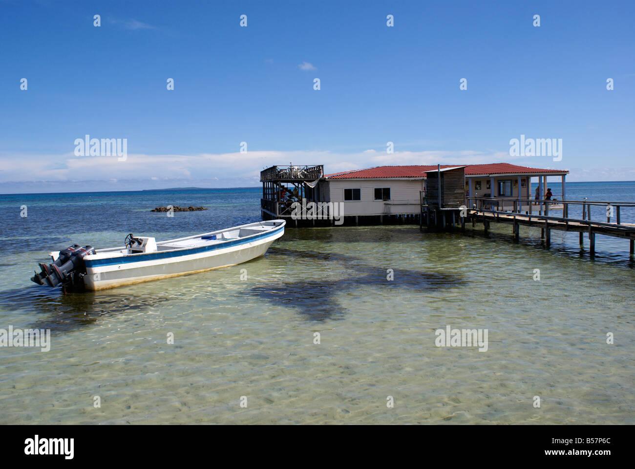 Anastasia's restaurant and Bar on Big Corn Island, Nicaragua, Central America Stock Photo