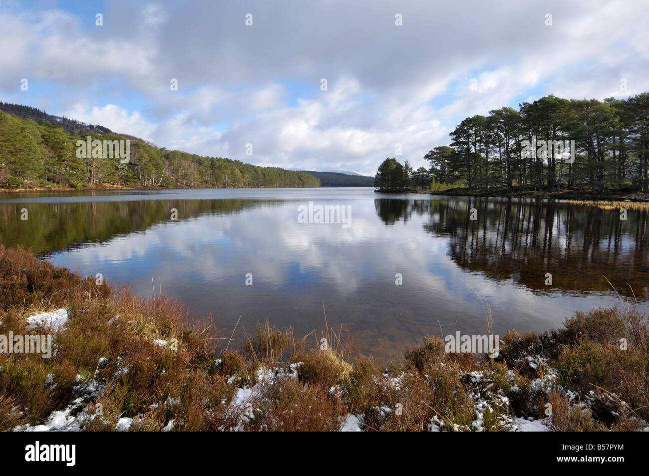 Loch an Eilein, near Aviemore, Cairngorms National Park, Highlands, Scotland, United Kingdom, Europe - Stock Image