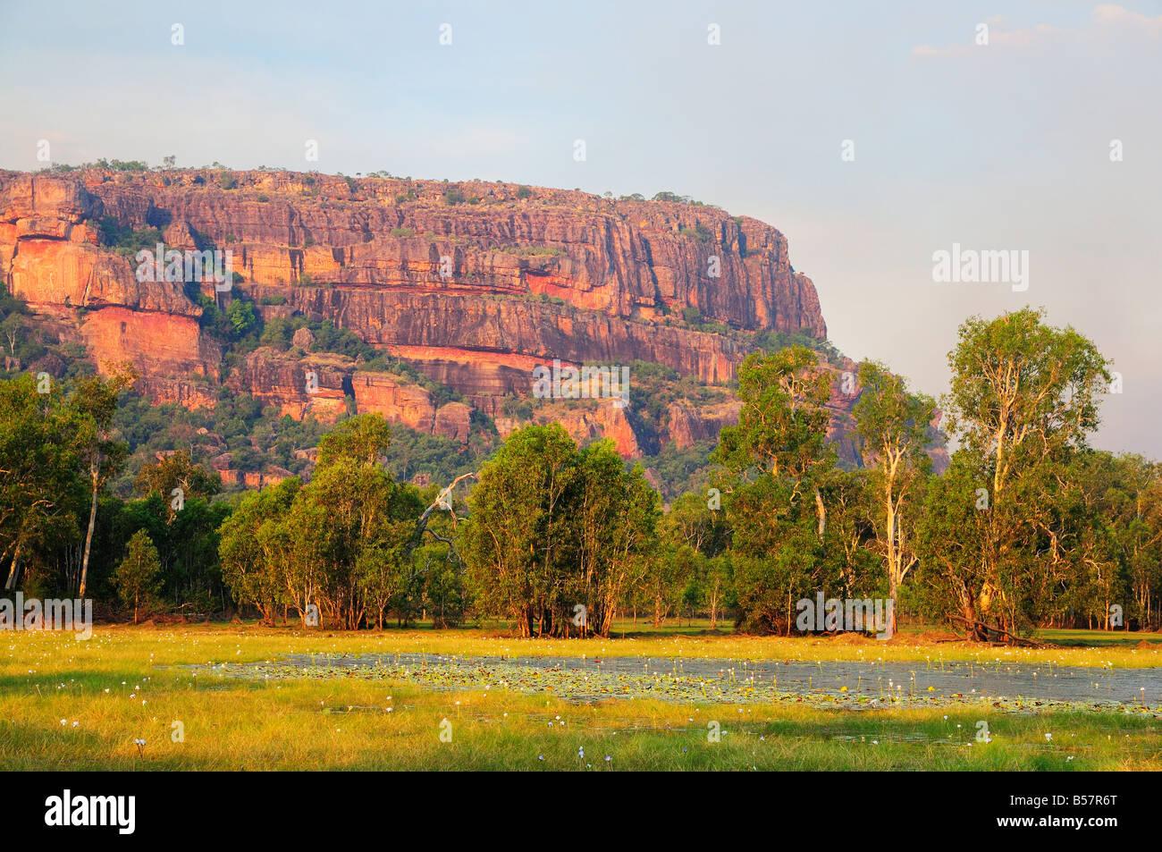 Nourlangie Rock and Anbangbang Billabong, Kakadu National Park, UNESCO World Heritage Site, Northern Territory, - Stock Image