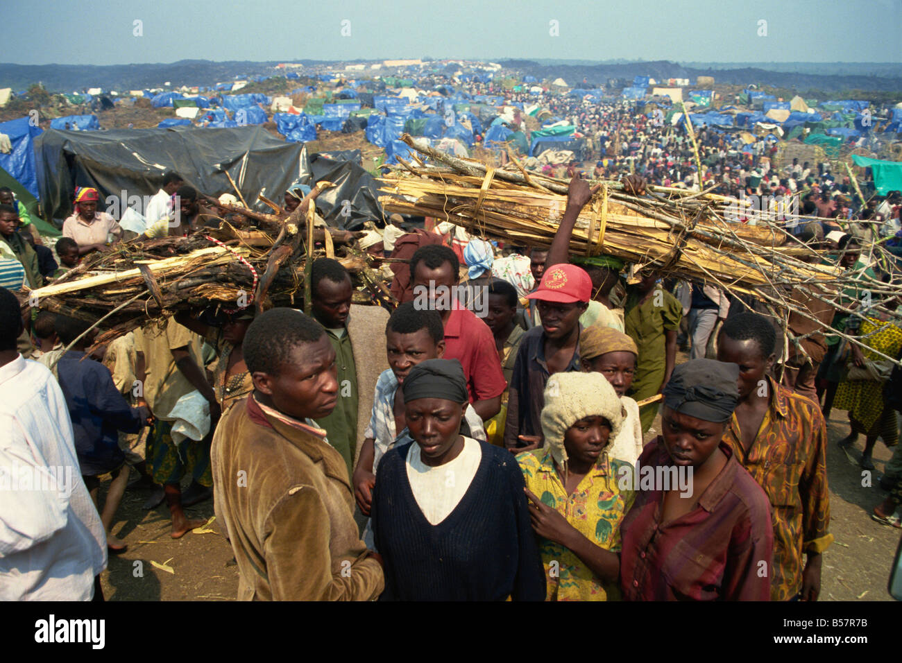 Refugees from war, Xatale Camp, Zaire, Africa - Stock Image