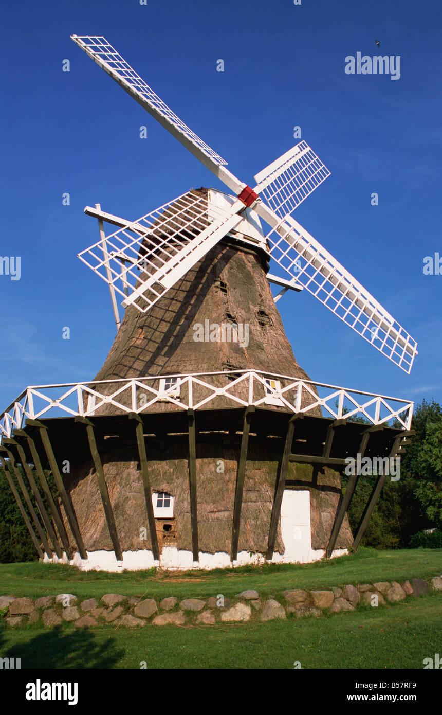 Soby Mill Aero Denmark Scandinavia Europe - Stock Image