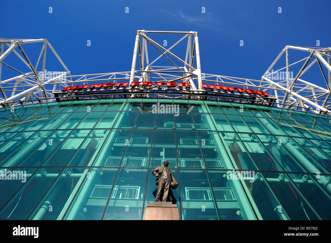 Manchester United Football Club Stadium, Old Trafford, Manchester, England, United Kingdom, Europe - Stock Image