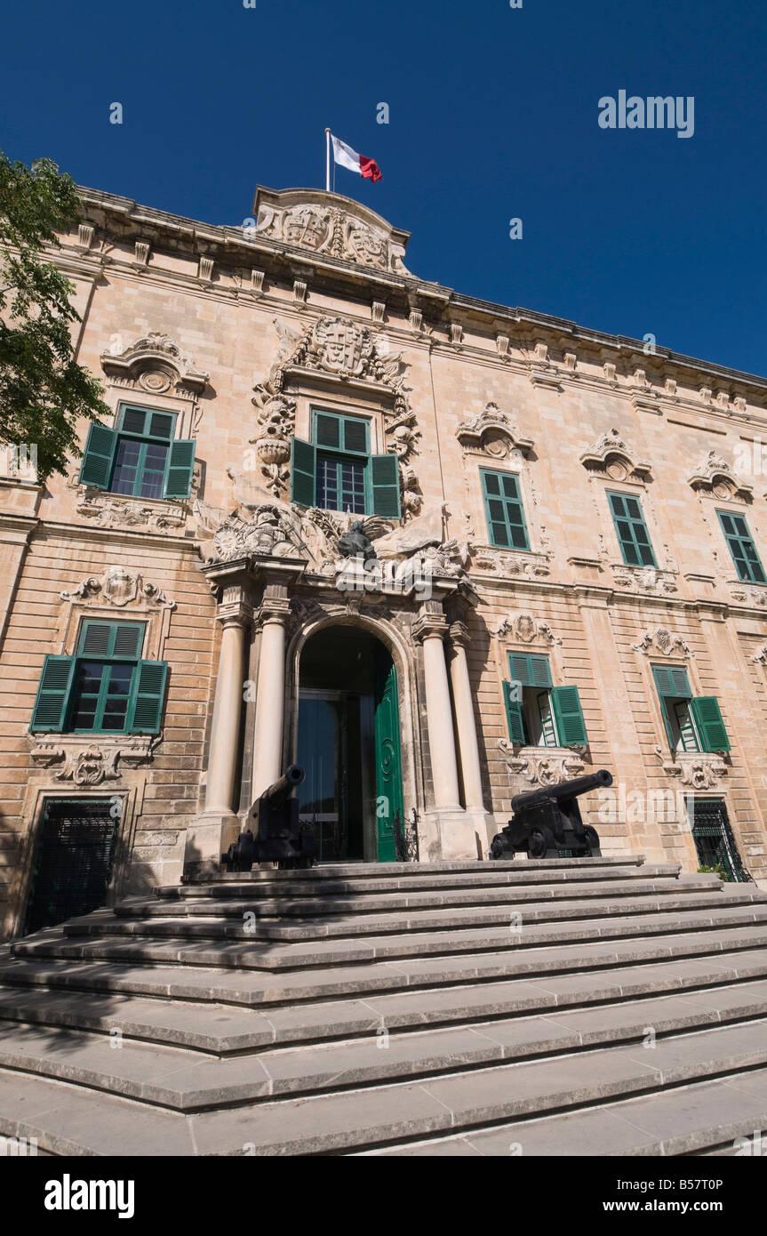 Auberge de Castile et Leon, the Prime Minister's office, Valletta, Malta, Europe - Stock Image