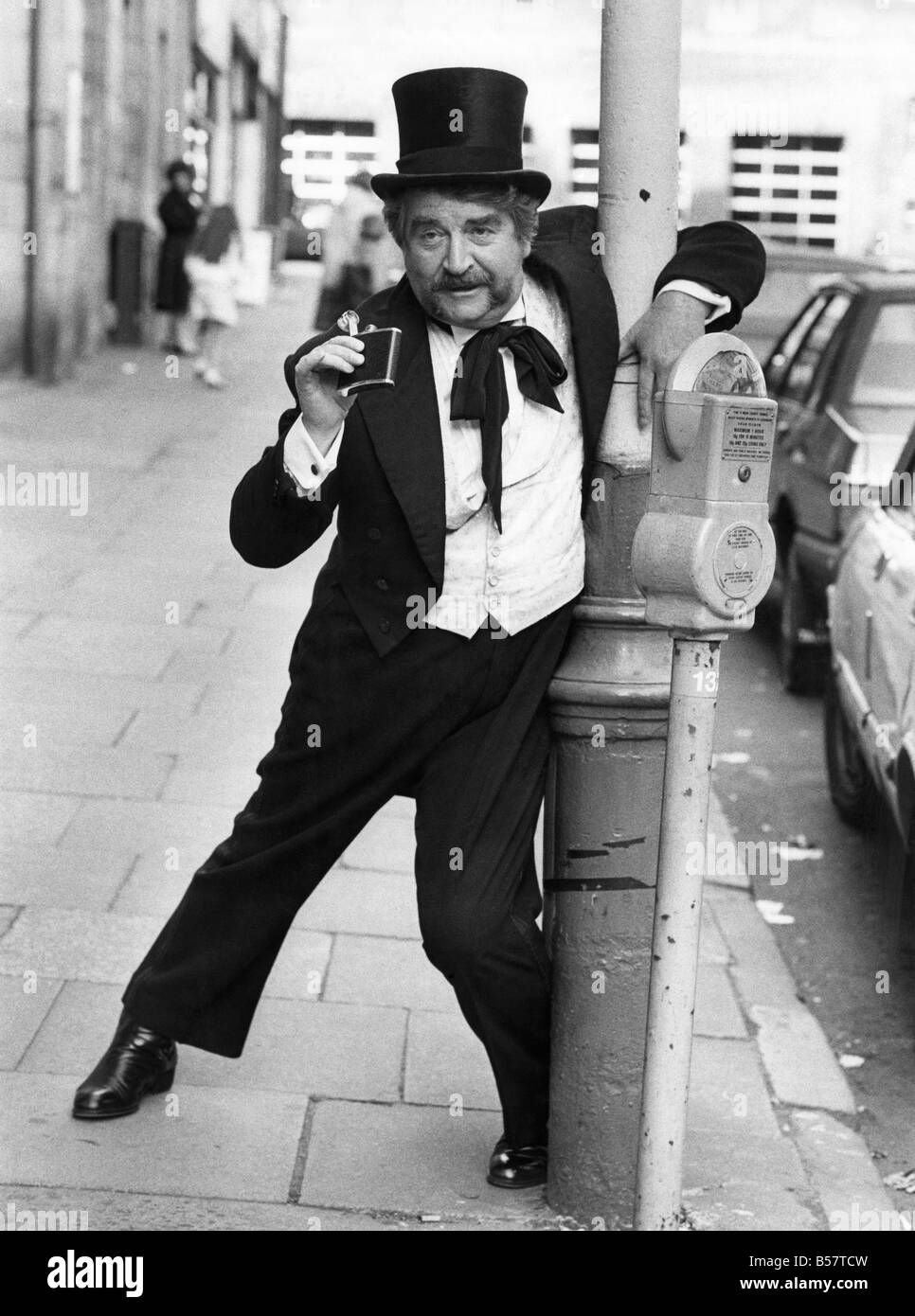 Former Coronation Street star Peter Adamson in his latest role. He plays Tommy Beamish, a music hall comedian, in - Stock Image