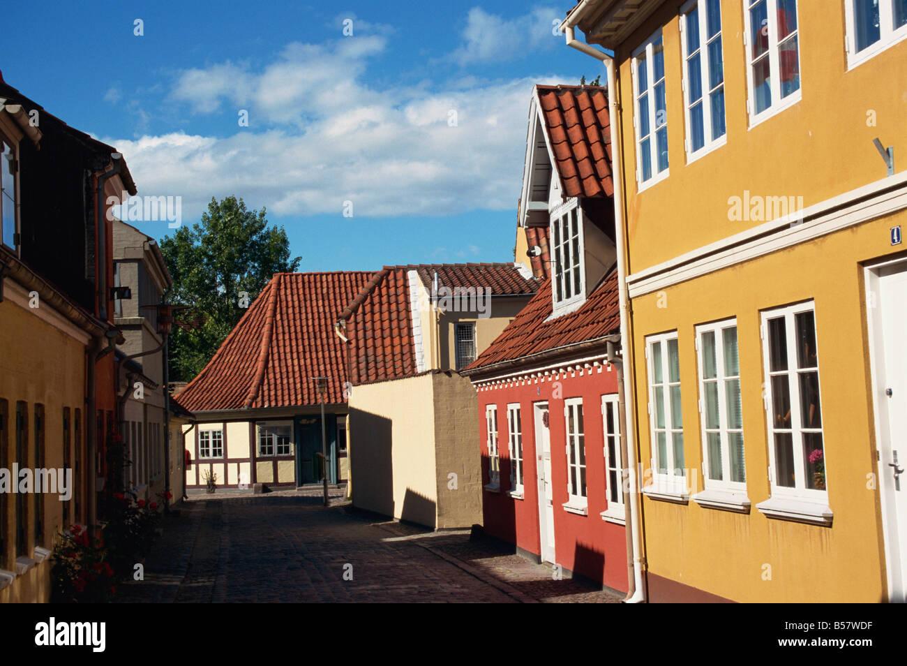 Old Town Odense Funen Denmark Scandinavia Europe Stock Photo