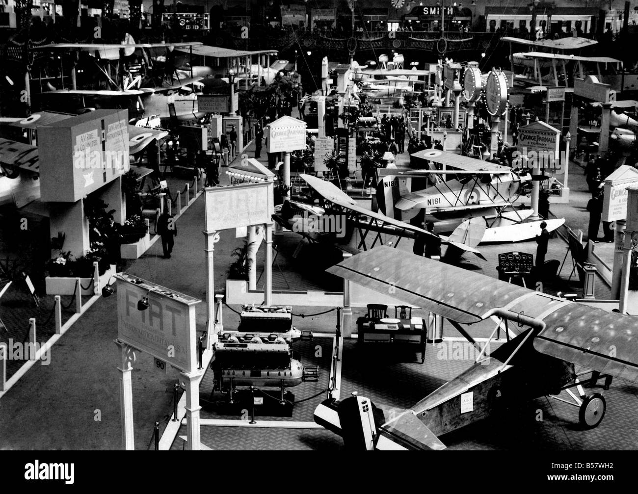 General view of the Aero Exhibition at Olympia. 
