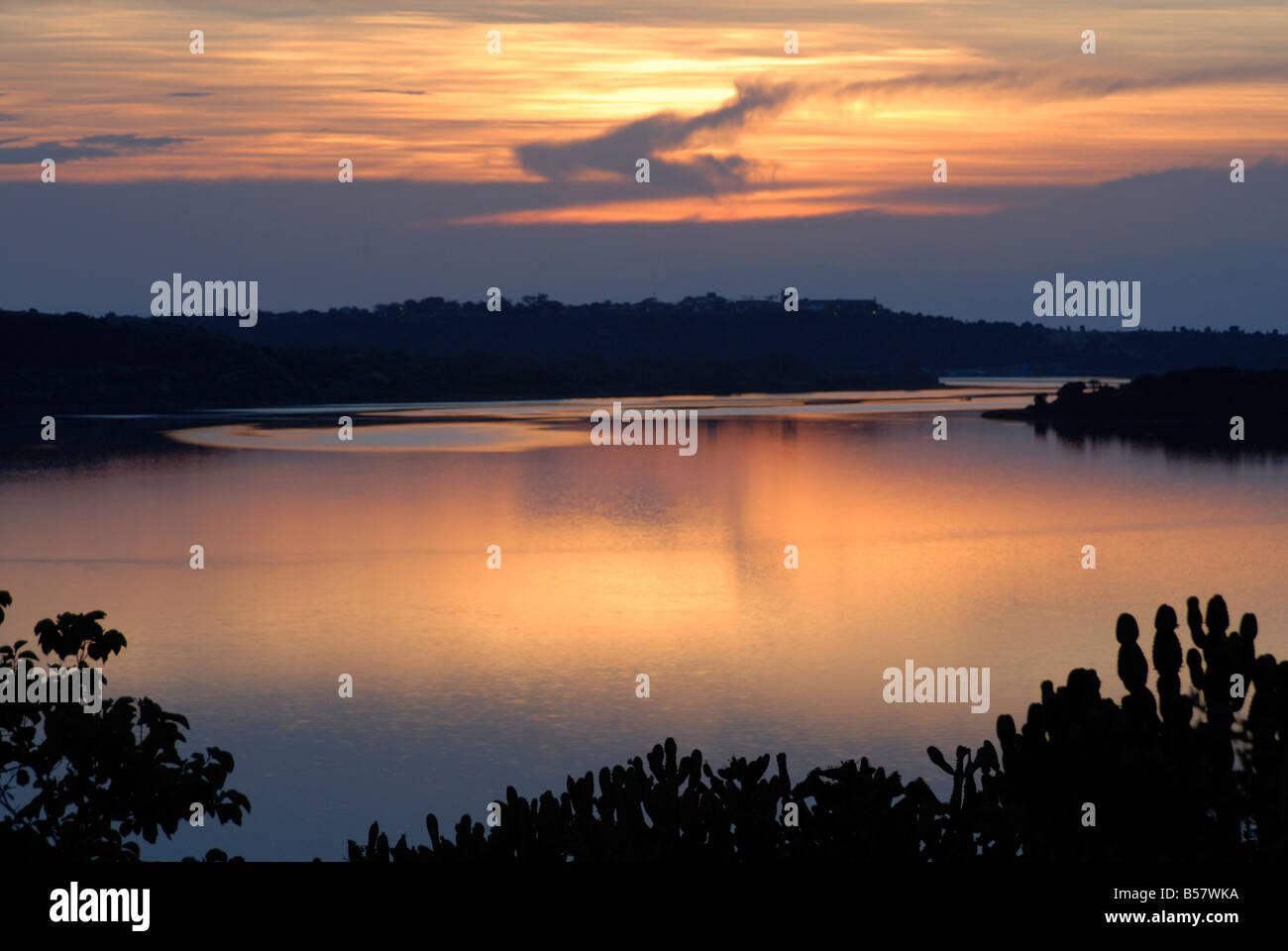 Queen Elizabeth National Park, Kazinga Channel, Uganda, East Africa, Africa - Stock Image