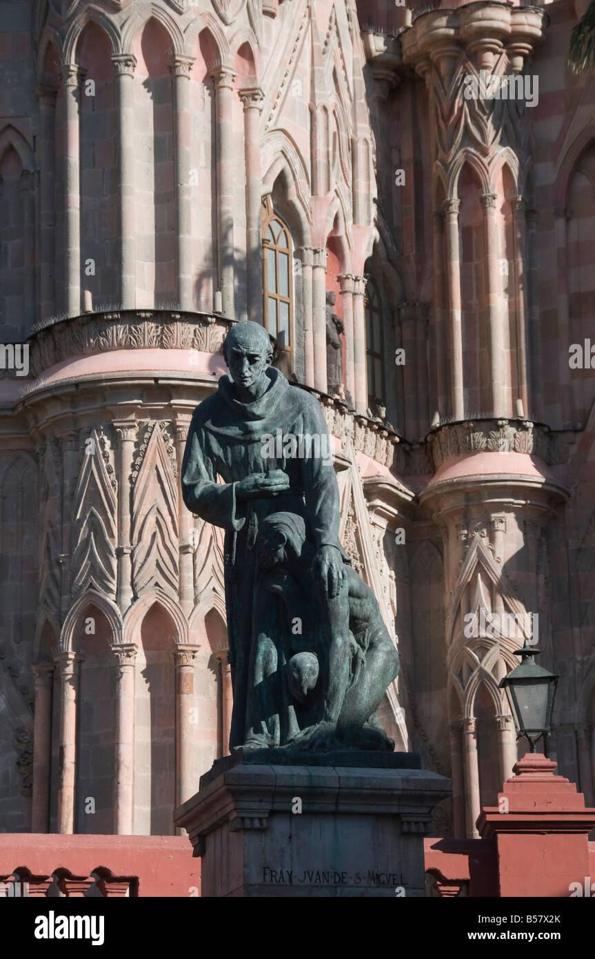 La Parroquia, church notable for its fantastic Neo-Gothic exterior, San Miguel de Allende (San Miguel), Guanajuato - Stock Image